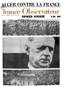 """""""Alger contre la France"""", France-Observateur, n°508 bis """"Après saisie"""", 28 janvier 1960"""
