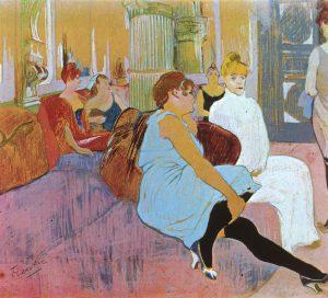 Salon de la rue des Moulins, Henri de Toulouse-Lautrec, 1894, Musée de Toulouse-Lautrec.
