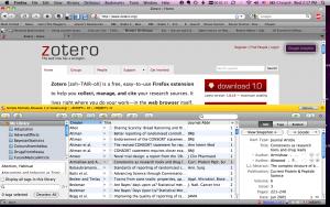 Illustration du logiciel Zotero, http://www.alisonsinclair.ca/